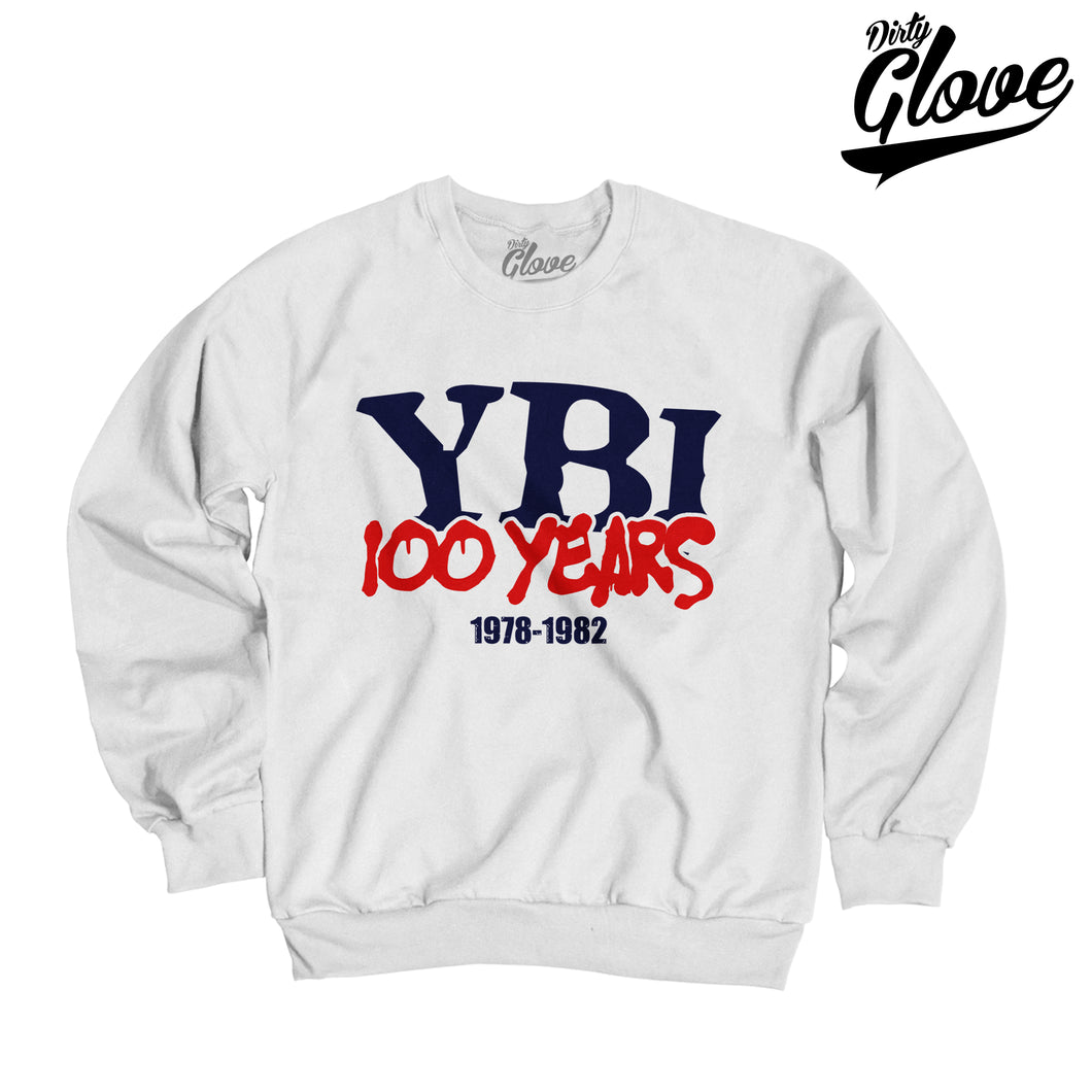 YBI 100 YEARS CREWNECK