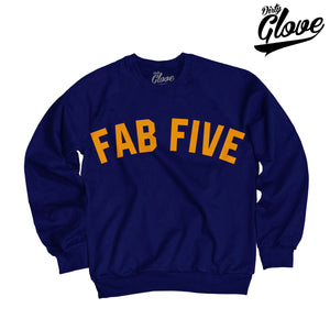 FAB FIVE NOSTALGIA CREWNECK (NAVY)