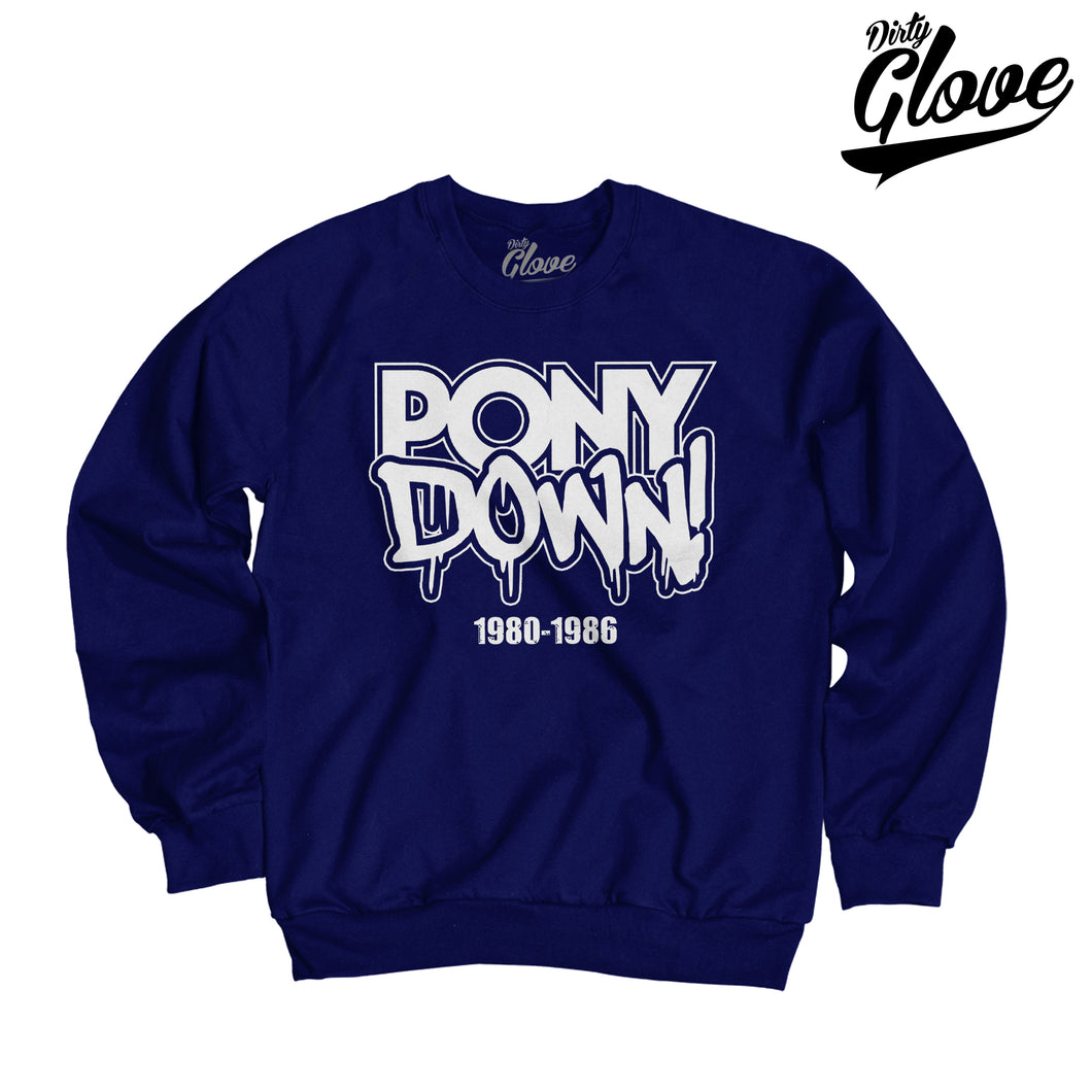 PONY DOWN CREWNECK