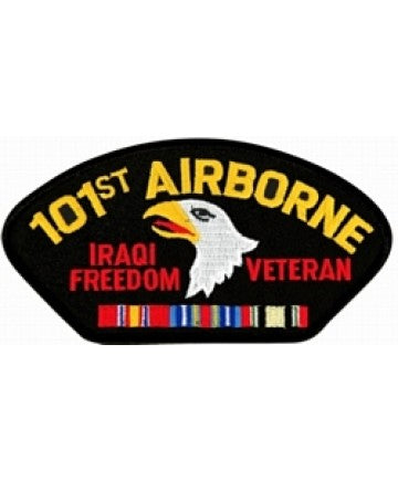 101st Airborne Iraqi Freedom Veteran with Ribbons Black Patch (4 inch) - The Company of Eagles