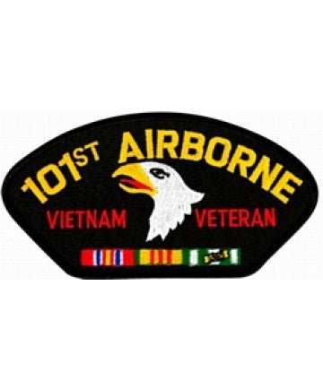 101st Airborne Vietnam Veteran with Ribbons Black Patch (4 inch) - The Company of Eagles