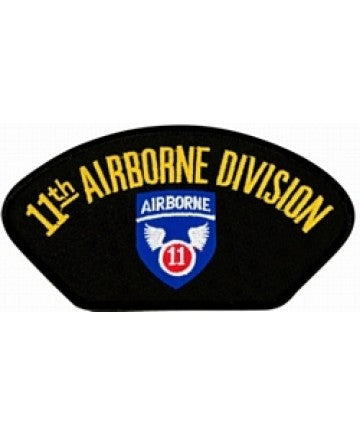 11th Airborne Division Insignia Black Patch (4 inch) - The Company of Eagles
