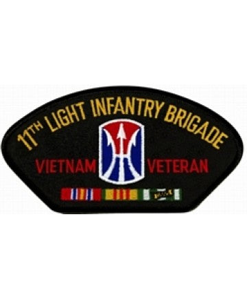 11th Light Infantry Brigade Vietnam Veteran Black Patch (4 inch) - The Company of Eagles
