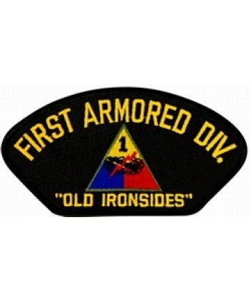 "1st Armored Division with ""Old Ironsides"" Black Patch (5 1/4 inch) - The Company of Eagles"