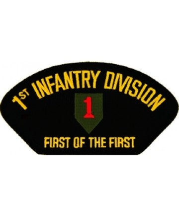 "1st Infantry Division with ""First of the First"" Black Patch (5 1/4 inch) - The Company of Eagles"