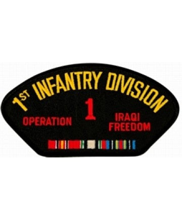1st Infantry Division Operation Iraqi Freedom with Ribbon Black Patch (4 inch) - The Company of Eagles