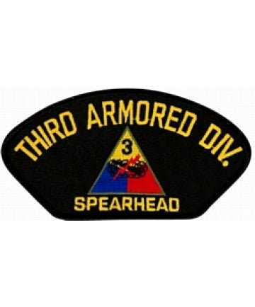 "3rd Armored Division with ""Spearhead"" Black Patch (5 1/4 inch) - The Company of Eagles"