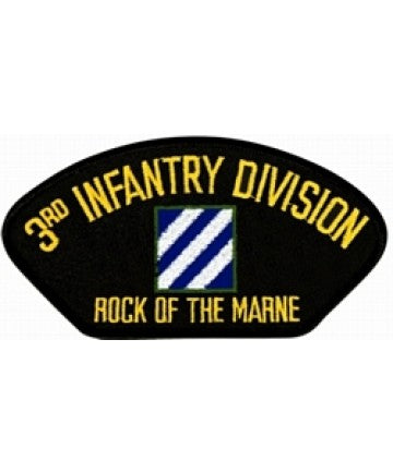 "3rd Infantry Division ""Rock of the Marine"" Black Patch (4 inch) - The Company of Eagles"