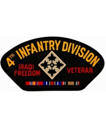 4th Infantry Iraq Veteran with Ribbon Black Patch (4 inch) - The Company of Eagles