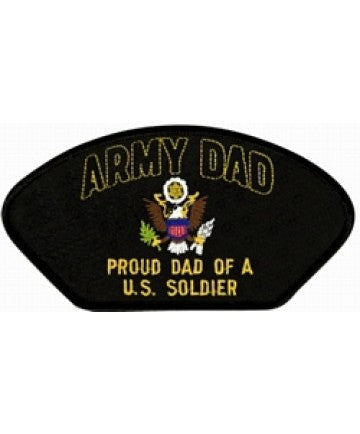Army Dad - Proud Dad of a US Soldier Black Patch (5 1/4 inch) - The Company of Eagles