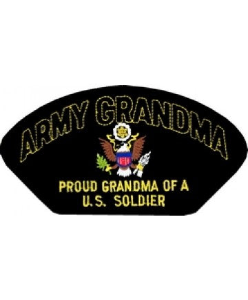 Army Grandma - Proud Grandma of a US Soldier Black Patch (5 1/4 inch) - The Company of Eagles