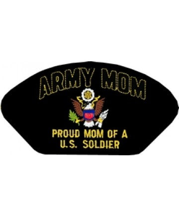 Army Mom - Proud Mom of a US Soldier Black Patch (5 1/4 inch) - The Company of Eagles