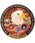 "Defenders of Our Freedom Fallen Heroes Back Patch (12"" diameter) - The Company of Eagles"