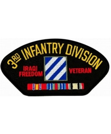 Iraq 3rd Infantry Division Veteran Black Patch (4 inch) - The Company of Eagles