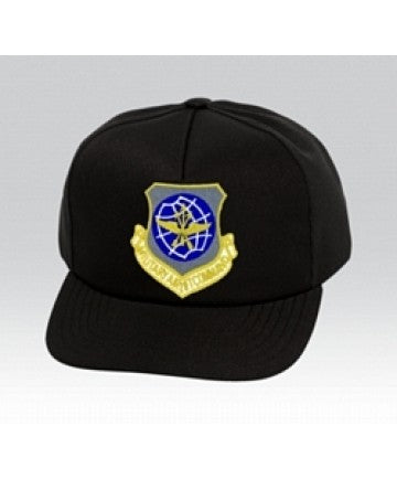 US Air Force MILITARY AIR LIFT CO Insignia Black Ball Cap US Made - The Company of Eagles