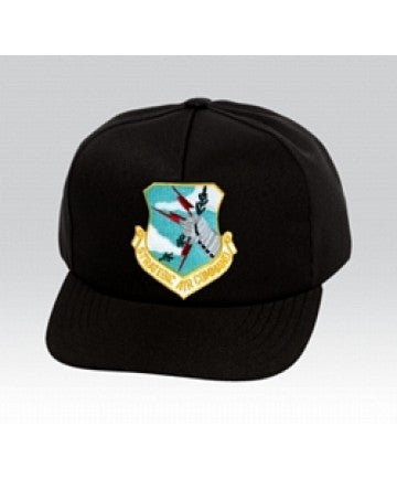 US Air Force STRATEGIC AIR COMMAND Insignia Black Ball Cap US Made - The Company of Eagles