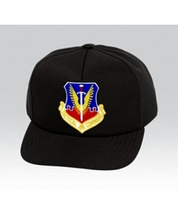 US Air Force TACTICAL AIR COMMAND Insignia Black Ball Cap US Made - The Company of Eagles