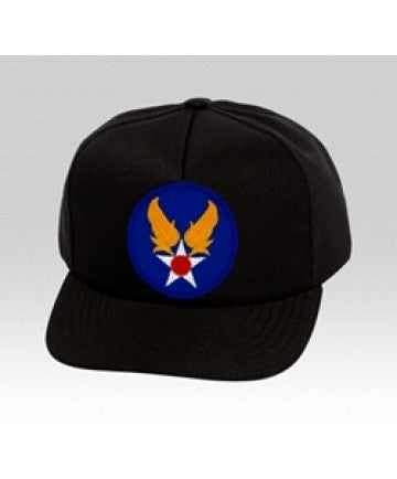 US Air Force U.S. ARMY AIR CORPS Insignia Black Ball Cap US Made - The Company of Eagles