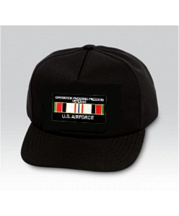 US Air Force US AIR FORCE AFGHANISTAN Insignia Black Ball Cap US Made - The Company of Eagles