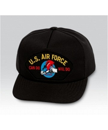US Air Force Can Do Will Do Charging Charlie Black Ball Cap US Made - The Company of Eagles