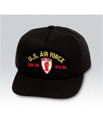 US Air Force Can Do Will Do Civil Engineer Insignia Black Ball Cap US Made - The Company of Eagles