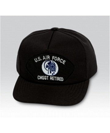 US Air Force Chief Master Sergeant (CMSgt/E-9) Black Ball Cap US Made - The Company of Eagles