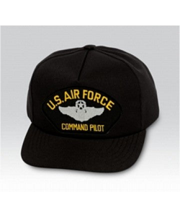US Air Force Command Pilot Black Ball Cap US Made - The Company of Eagles
