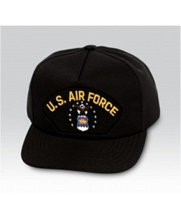 US Air Force Emblem Black Ball Cap US Made - The Company of Eagles