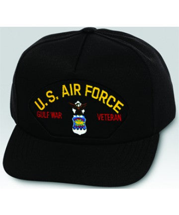 US Air Force Gulf War Veteran Emblem Black Ball Cap US Made - The Company of Eagles
