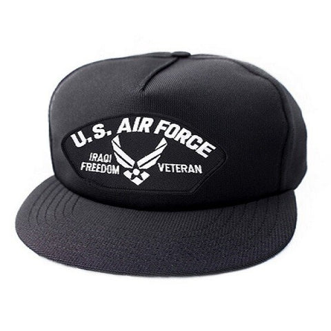 US Air Force Iraqi Freedom Veteran Symbol Black Ball Cap US Made - The Company of Eagles