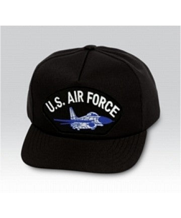 US Air Force Plane Insignia Black Ball Cap US Made - The Company of Eagles