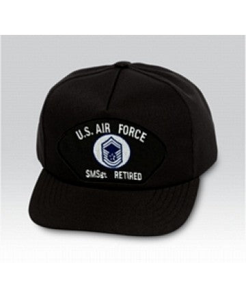 US Air Force Senior Master Sergeant (SMSgt/E-8) Black Ball Cap US Made - The Company of Eagles