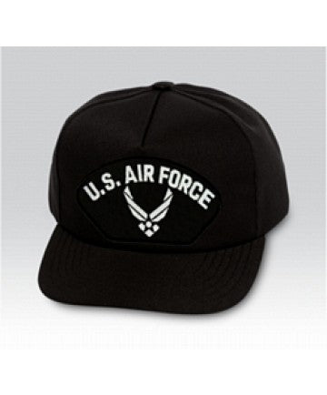 US Air Force Symbol Black Ball Cap US Made - The Company of Eagles