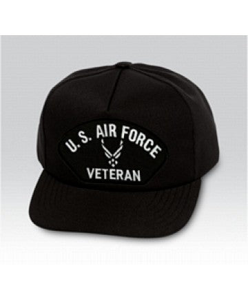 US Air Force Veteran Symbol Black Ball Cap US Made - The Company of Eagles