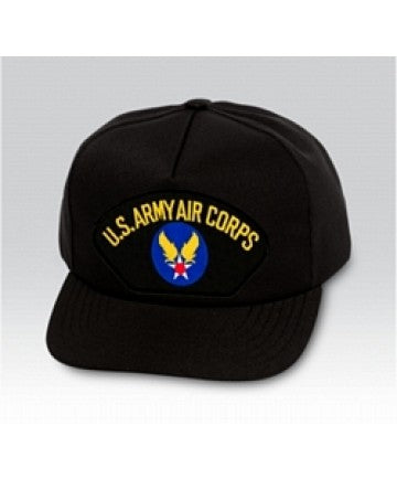 US Army Air Corps Insignia Black Ball Cap US Made - The Company of Eagles