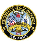 US Army Defenders of Our Freedom Back Patch (5 inch) - The Company of Eagles