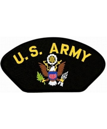 United States Army Insignia Black Patch (5 1/4 inch) - The Company of Eagles