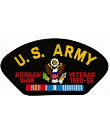 United States Army Korean Veteran Insignia with Ribbon Black Patch (5 1/4 inch) - The Company of Eagles