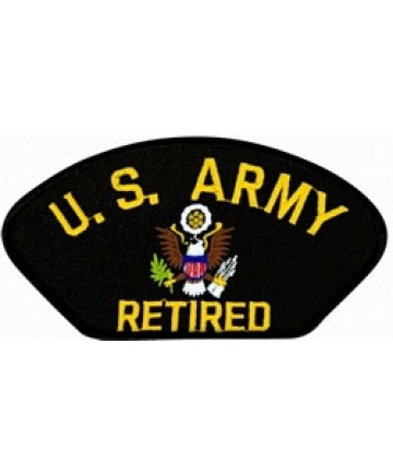 United States Army Retired Insignia Black Patch (5 1/4 inch) - The Company of Eagles