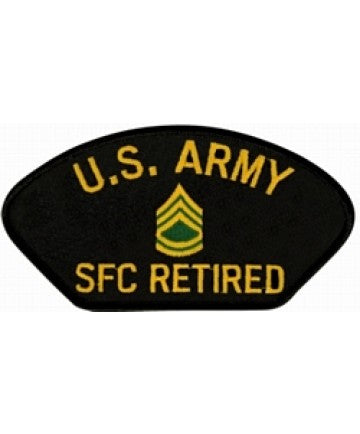 United States Army Sergeant First Class (SFC) Retired Black Patch (5 1/4 inch) - The Company of Eagles