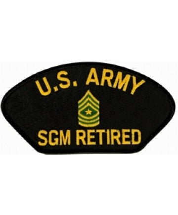 United States Army Sergeant Major (1SGM) Retired Black Patch (5 1/4 inch) - The Company of Eagles