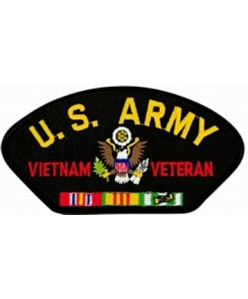United States Army Vietnam Veteran Insignia with Ribbon Black Patch (5 1/4 inch) - The Company of Eagles