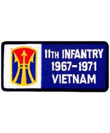 11th Infantry Division Vietnam '67-'71 Small Patch (3 inch) - The Company of Eagles