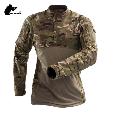 Camo Tactical T Shirt Long Sleeve - The Company of Eagles
