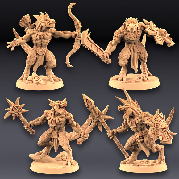 Lizard Warriors - Modular (Set of 4)