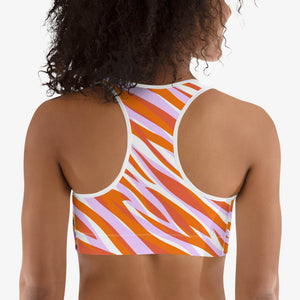 "Patterned Sports Bra ""Cheetiger"" Orange"