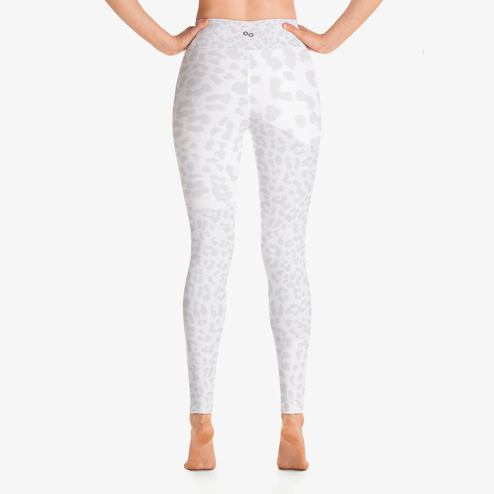 "Funky animal printed leggings for women. Model ""leopard"" white back"