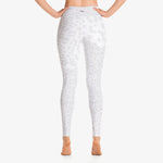"Load image into Gallery viewer, Funky animal printed leggings for women. Model ""leopard"" white back"