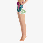 "Load image into Gallery viewer, Floral Shorts ""Leaves"" Violet/Green"
