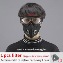 Load image into Gallery viewer, Coronavirus Defense N95 Mask with Filters & Goggles | Washable & Reusable